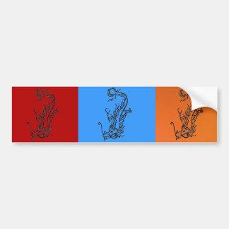 Diving Dragon Bumper Sticker