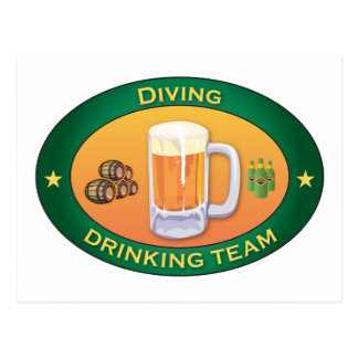 Diving Drinking Team Postcard