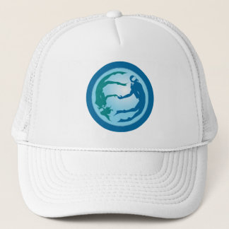 Diving Duo in the Depths of the Deep Blue Sea: Hat