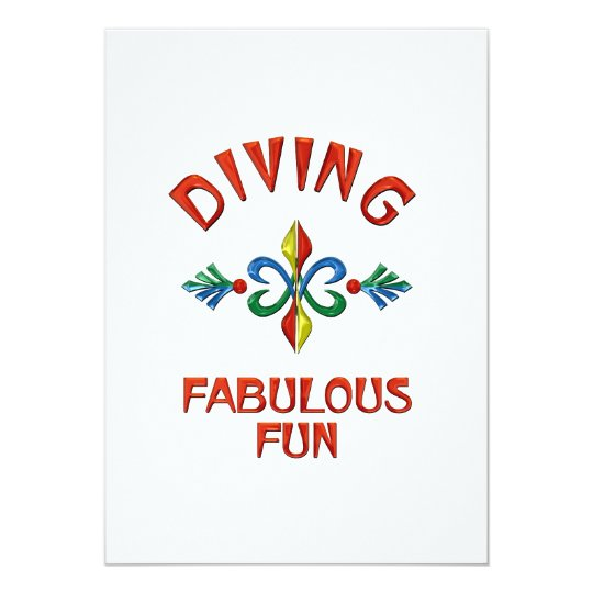 Diving Fabulous Fun Card