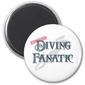 Diving Fanatic 2 Inch Round Magnet