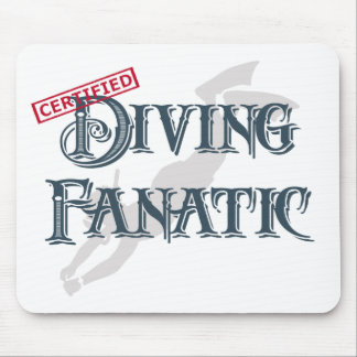 Diving Fanatic Mouse Pad