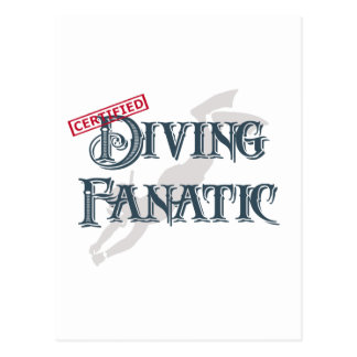 Diving Fanatic Post Card