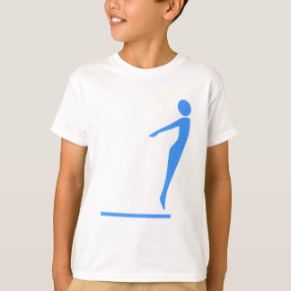 Diving Figure - Baby Blue T-Shirt
