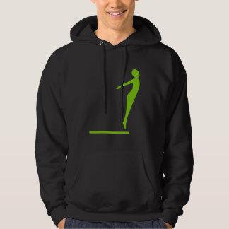 Diving Figure - Martian Green Hoodie