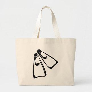 Diving - Fins Jumbo Tote Bag