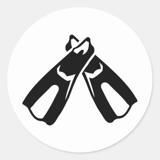 Diving Fins Flippers Sticker