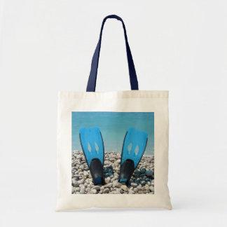 Diving Fins Tote Bag