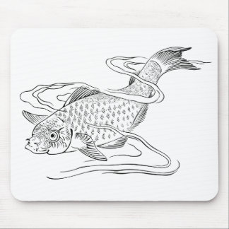 Diving Fish Mouse Pad