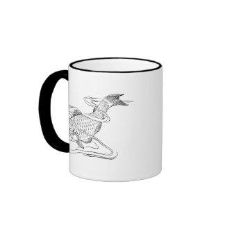 Diving Fish Ringer Coffee Mug