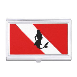 Diving Flag Diver Mermaid Business Card Case