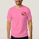 "Diving Flag Embroidered T-Shirt<br><div class=""desc"">The stock embroidery designs shown on this page have been copyrighted. �1990-2008 Dakota Collectibles. ALL RIGHTS RESERVED. The designs are reproduced with the prior, written consent of Dakota Collectibles. Making a copy, by any means, of this artwork is a violation of copyright law. Please confirm that your custom product looks...</div>"