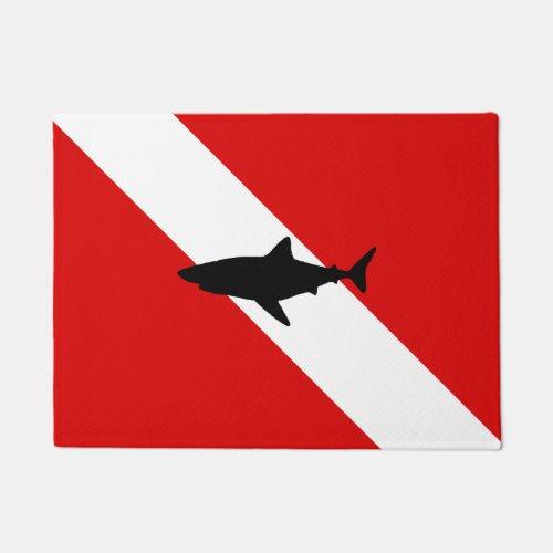 Diving Flag Shark Doormat