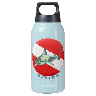 diving flag shark insulated water bottle