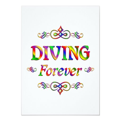 Diving Forever 5x7 Paper Invitation Card