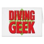 Diving Geek v2 Greeting Card