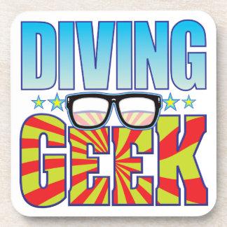 Diving Geek v4 Drink Coasters