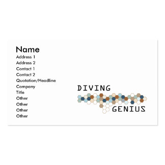 Diving Genius Double-Sided Standard Business Cards (Pack Of 100)