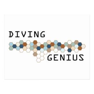 Diving Genius Postcard