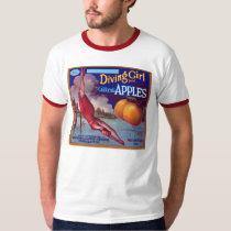 Diving Girl Apples T-Shirt