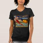 Diving Girl Apples - Vintage Fruit Crate Label T-Shirt