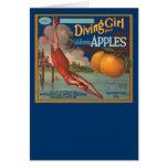 Diving Girl California Apples Card