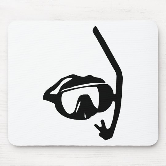 diving goggles and snorkel mouse pad