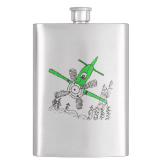 Diving Green Plane Flask