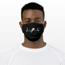 Diving Heartbeat Sea Dive Gift for Diver Adult Cloth Face Mask