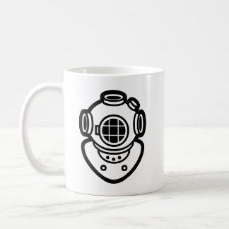 Diving Helmet Classic White Coffee Mug