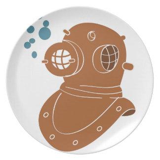 Diving Helmet Dinner Plate