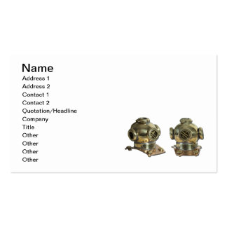 Diving Helmet Double-Sided Standard Business Cards (Pack Of 100)