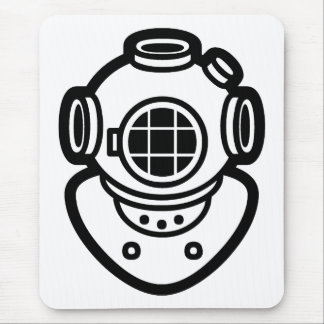 Diving Helmet Mouse Pad