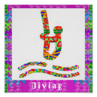 Diving - Hobby Exercise Sports Posters