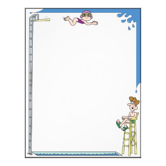 Diving in the Pool Letterhead