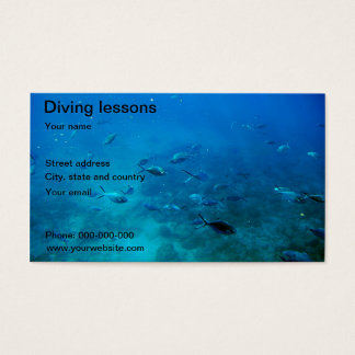 Diving in the sea business card
