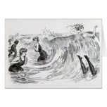 Diving in the Sea Greeting Cards