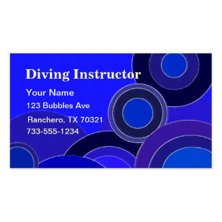 Diving Instructor business cards