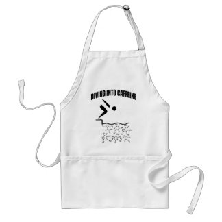 Diving Into Caffeine Adult Apron