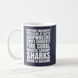 Diving is Awesome Mug