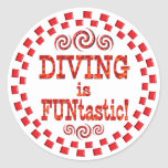 Diving is FUNtastic Classic Round Sticker