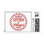 Diving is FUNtastic Postage Stamp