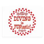 Diving is FUNtastic Postcard