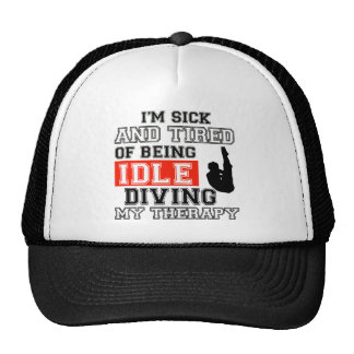 diving is my therapy trucker hat