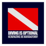 Diving is Optional Poster