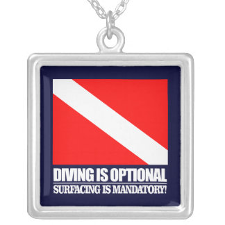 Diving is Optional Silver Plated Necklace