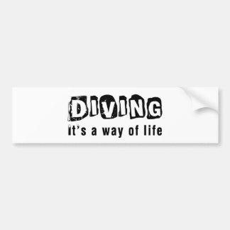 Diving It's a way of life Bumper Sticker