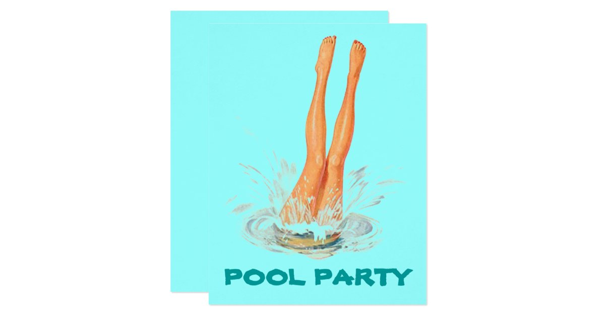 Swim Party Invitations Announcements – Pool Party Invitations