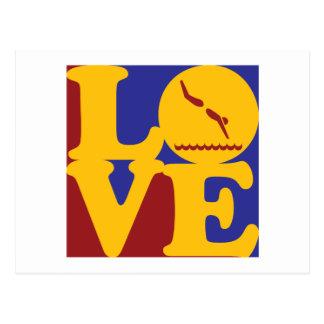 Diving Love Postcard