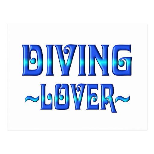 DIVING LOVER POSTCARD